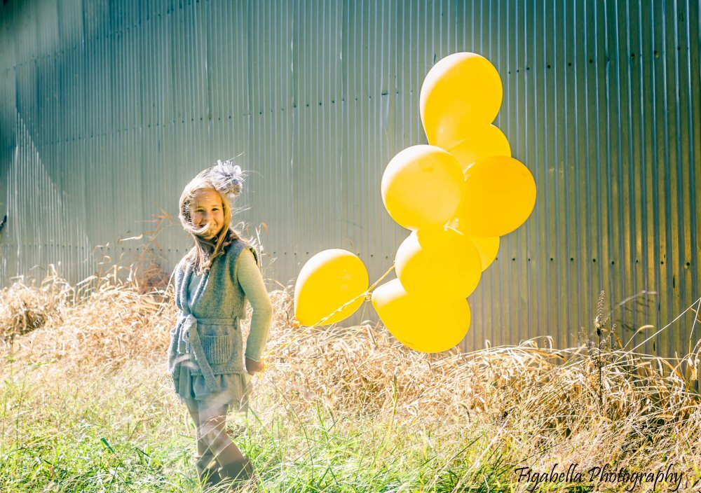 Child with Balloons Photography